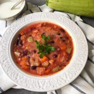 minesctrone de legume cu quinoa